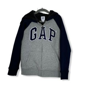 Big Kids Sherpa Lined Hooded Gap Sweater